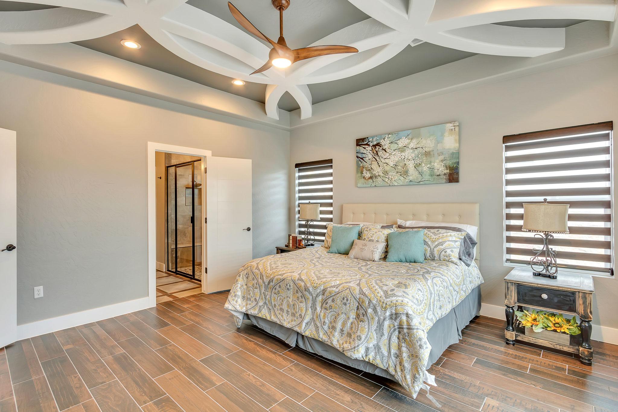 Custom Ceiling in New Home Bedroom El Paso TX
