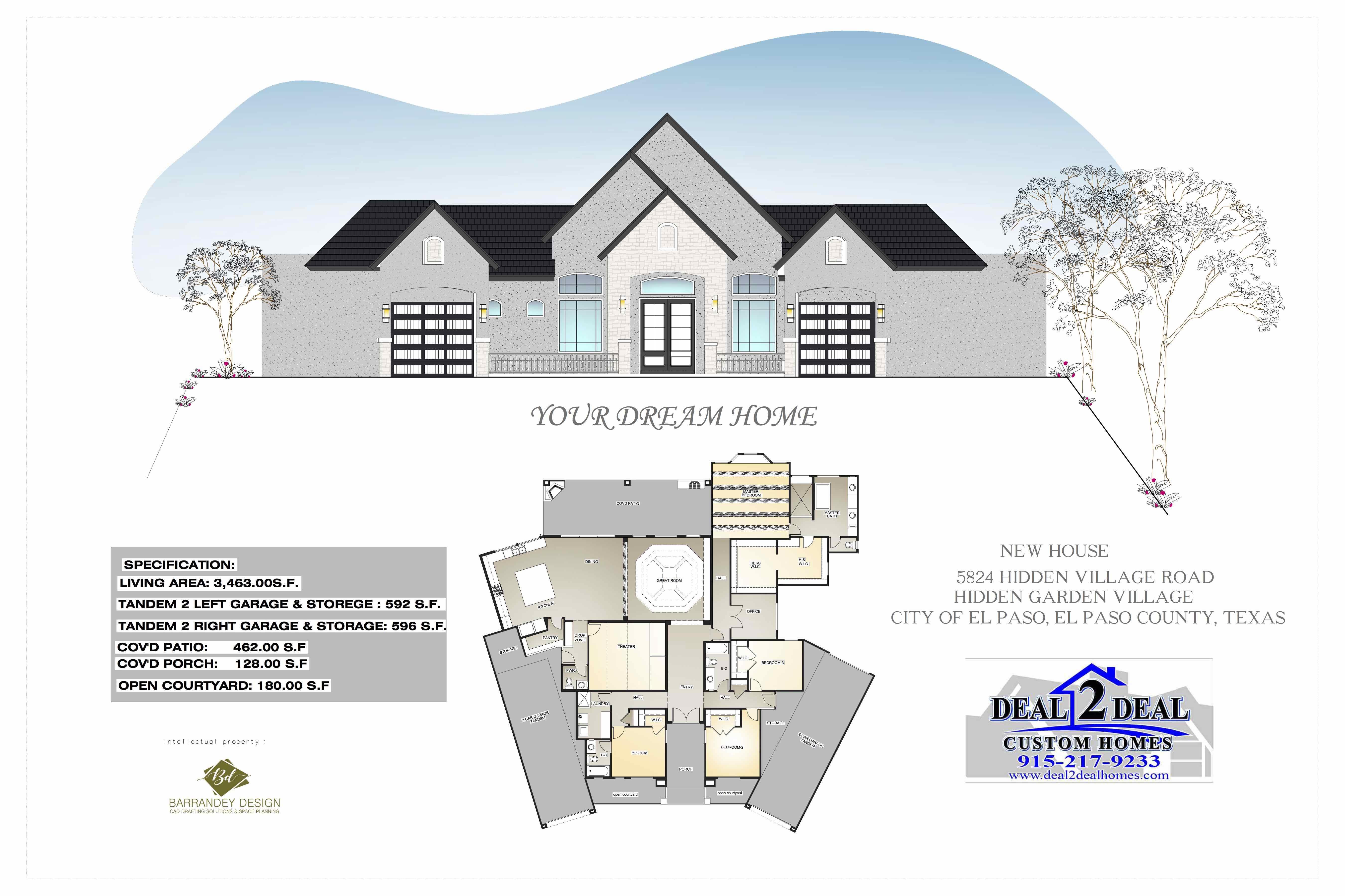 5824 HIDDEN VILLAGE ROAD, EL PASO, Texas 79932, 4 Bedrooms Bedrooms, ,3 BathroomsBathrooms,New Home,For Sale,HIDDEN VILLAGE,1043